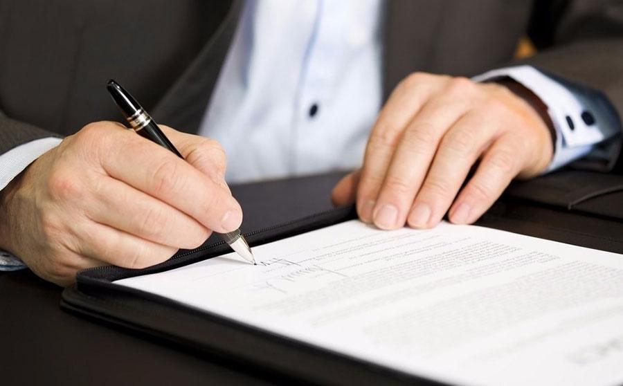 фотография заполнения договора