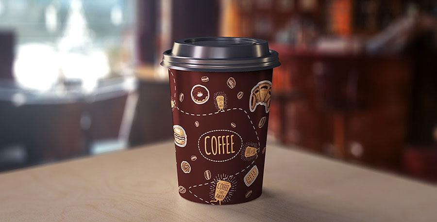 стаканчик с кофе